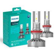 Lampada LED Philips Ultinon H8 H11 H16 6200K 5W 160% a Mais de Visibilidade