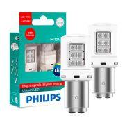 Lampada LED Philips Ultinon P21/5W 2 Polos Luz Vermelha