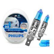 Lâmpada Super Branca H1 Crystal Vision Ultra Philips 4300k + Pingo