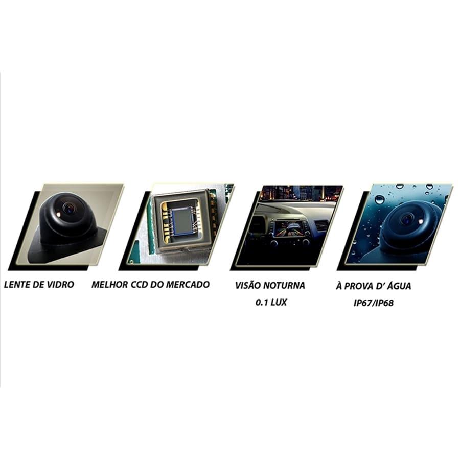 Câmera de Ré ou Frontal Universal Micro Colorida com Lente de Vidro e Visão Noturna Faaftech FT-CAMERA