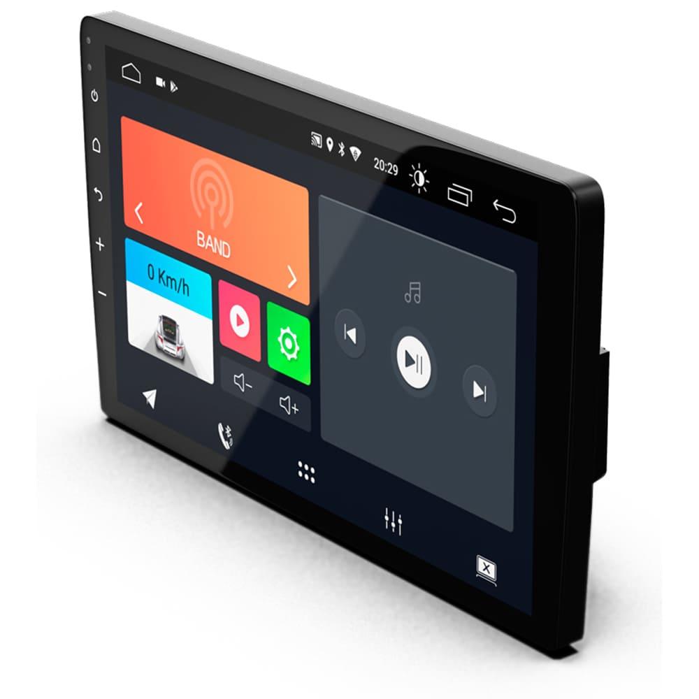 "Central Multimidia 10.1"" Android 10 com 2 USB Bluetooth Espelhamento Google Play Faaftech"