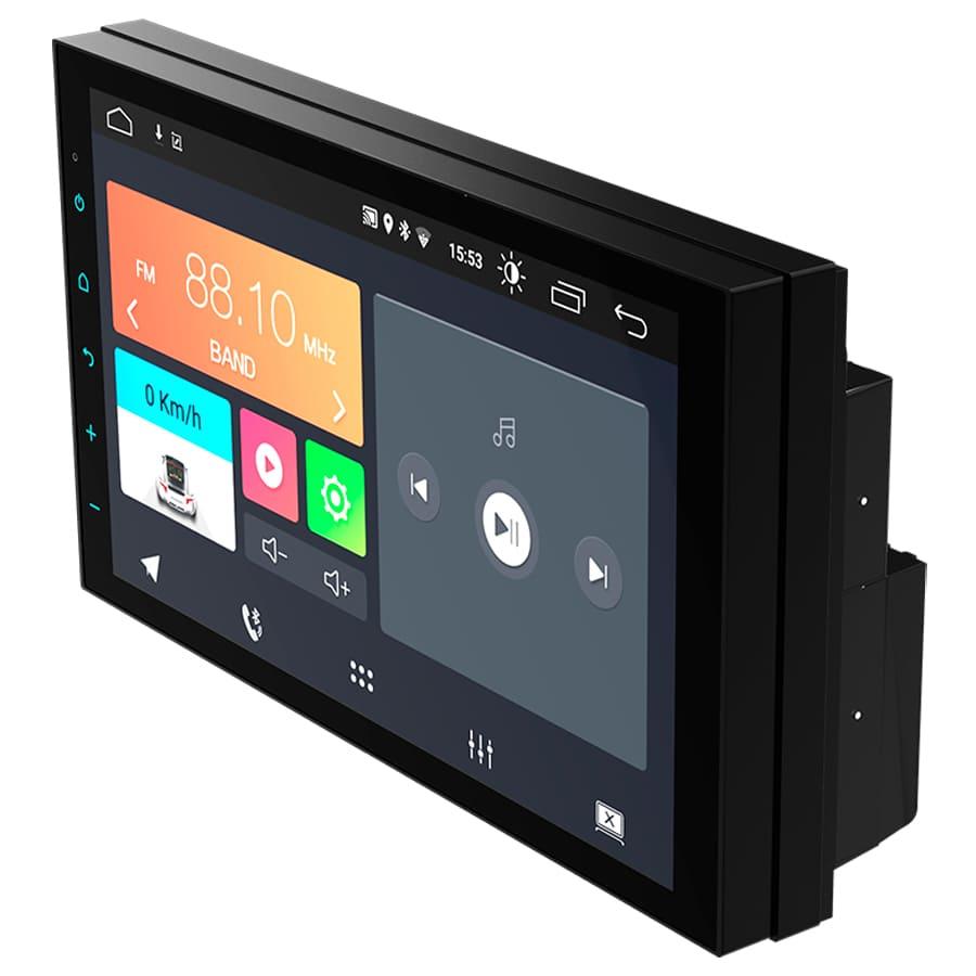 "Central Multimidia Android 7"" com 2 USB Bluetooth Espelhamento Google Play Faaftech FT-MM-AND7"