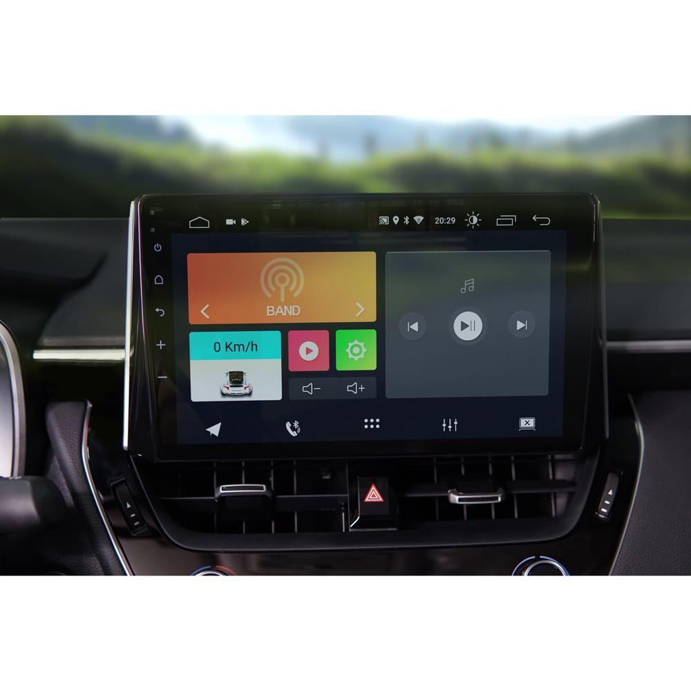 "Central Multimidia Corolla 2020 10.1"" Android 10 com 2 USB Bluetooth Espelhamento Google Play Faaftech"