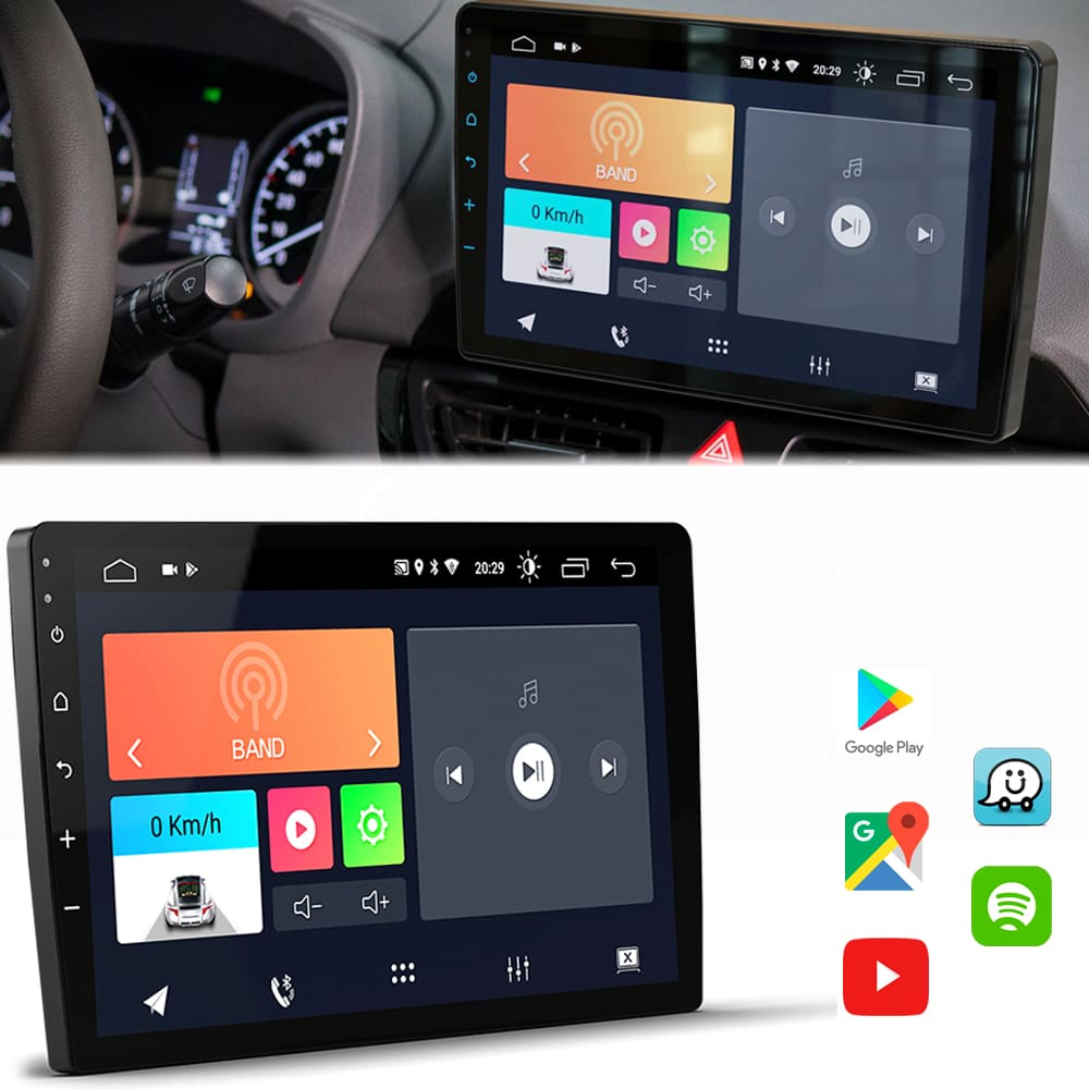 "Central Multimidia HB20 2020 10.1""Android 10 com 2 USB Bluetooth Espelhamento Google Play Faaftech"