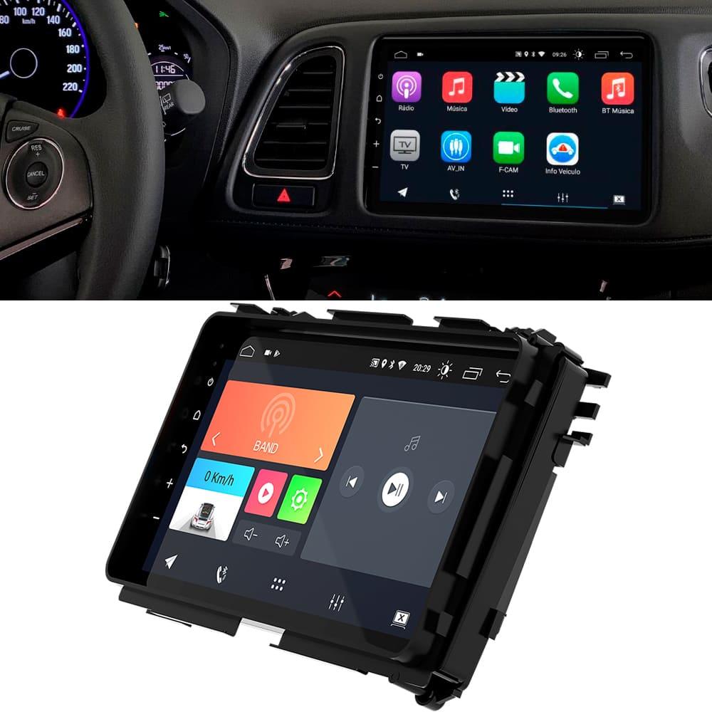 "Central Multimidia HR-V 2019 a 2020 9"" Android 10 USB Bluetooth Espelhamento Google Play Faaftech"