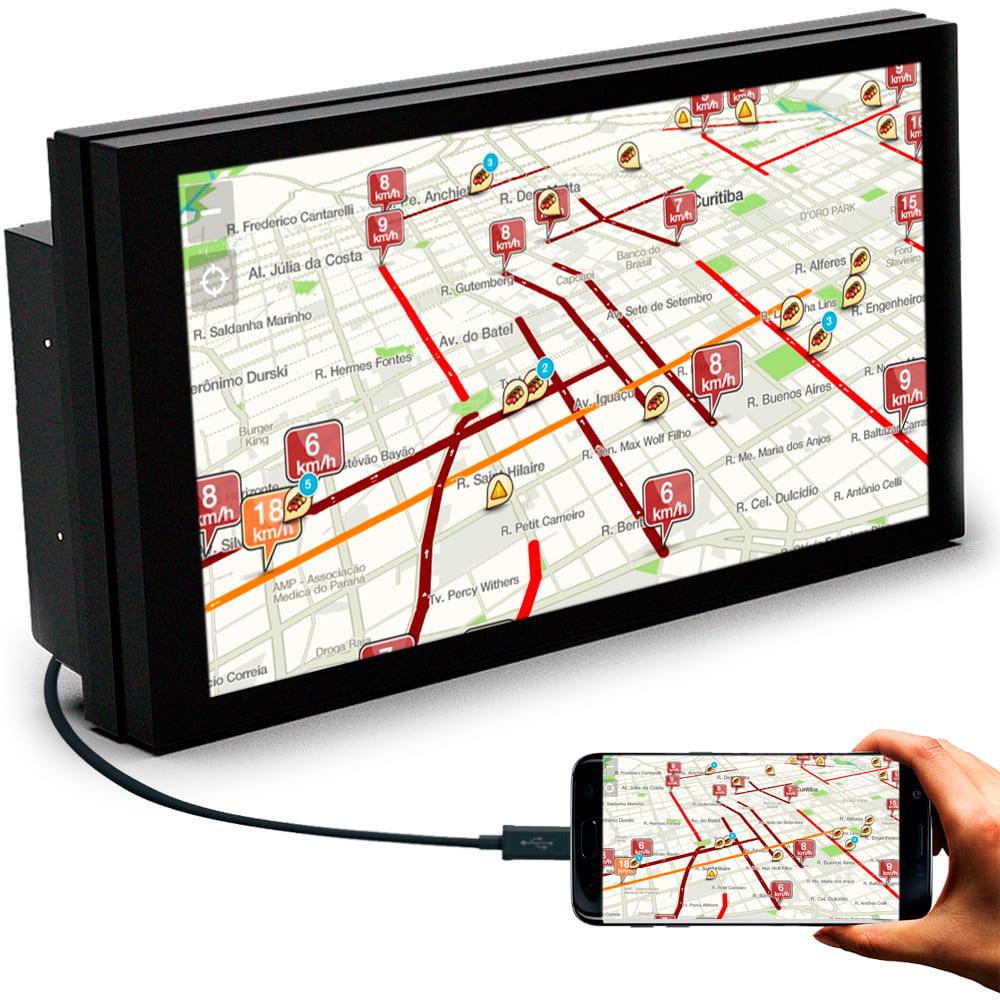 Central Multimidia MP5 com USB Bluetooth Espelhamento Android e IOS Faaftech FT-MM-MP5