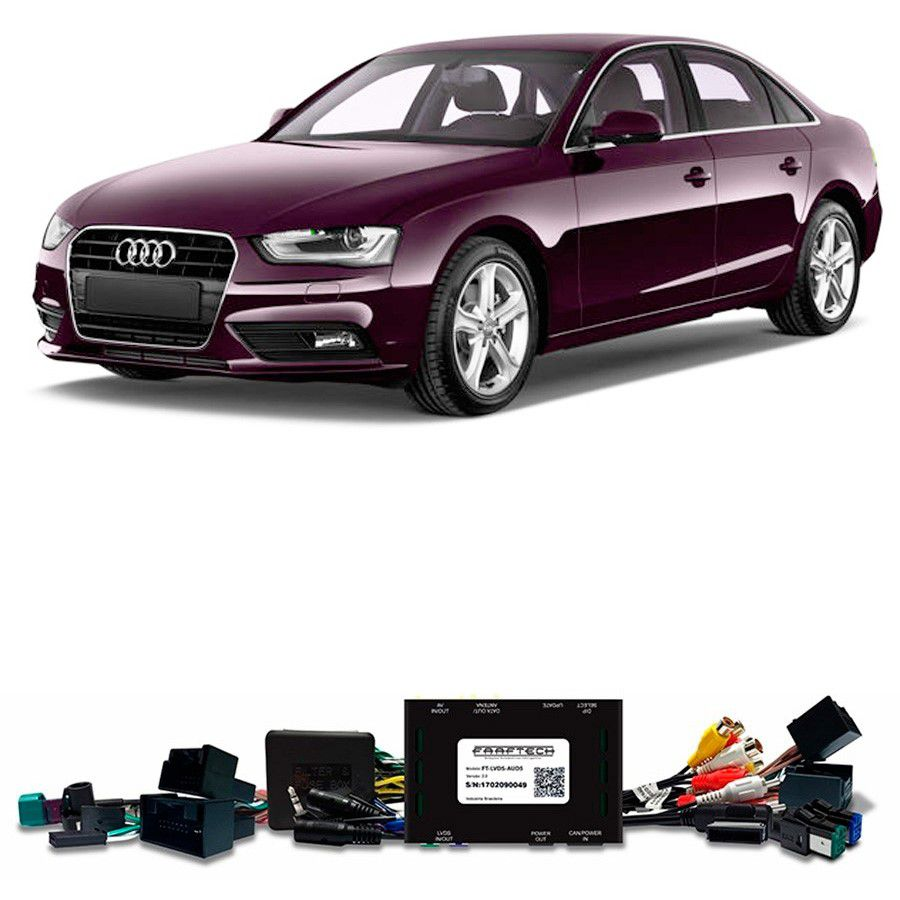 Desbloqueio De Multimidia Audi A4 2012 a 2015 Com DVD de Fabrica FT LVDS AUD5
