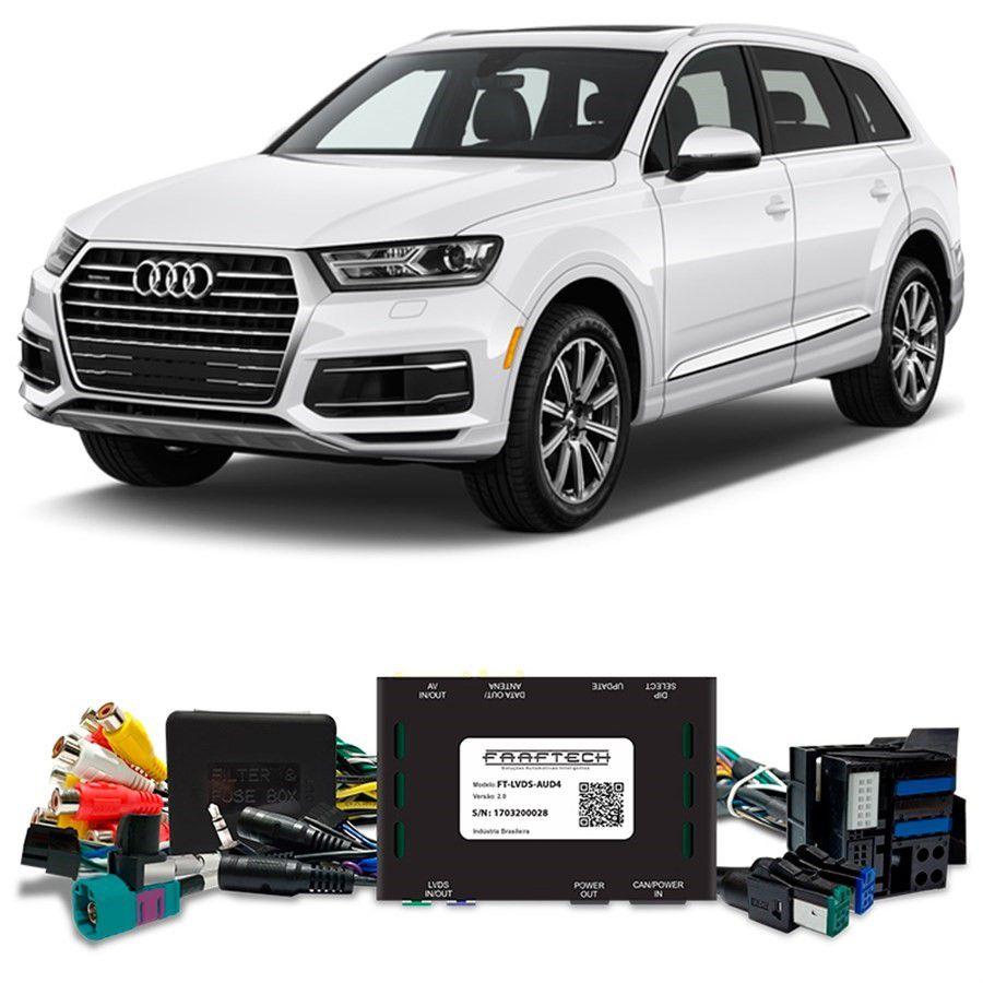 Desbloqueio De Multimídia Audi Q7 2016 a 2018 FT LVDS AUD4
