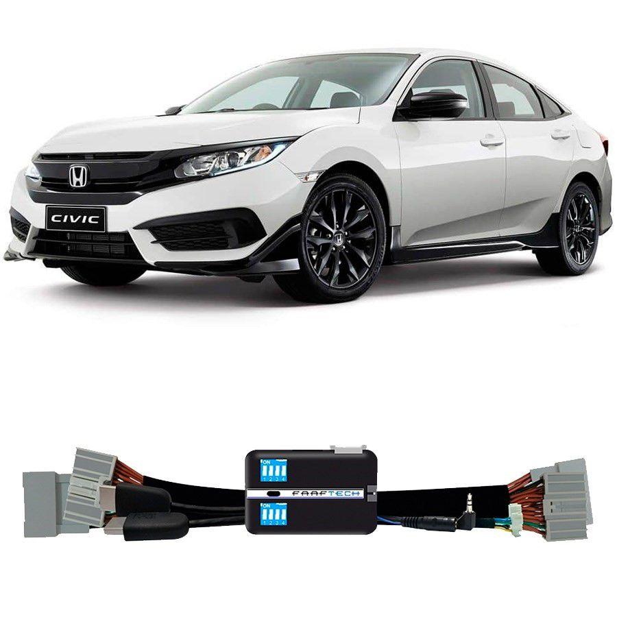 Desbloqueio De Multimidia Honda Civic 2017 a 2018 Com entrada HDMI FT VF HND2
