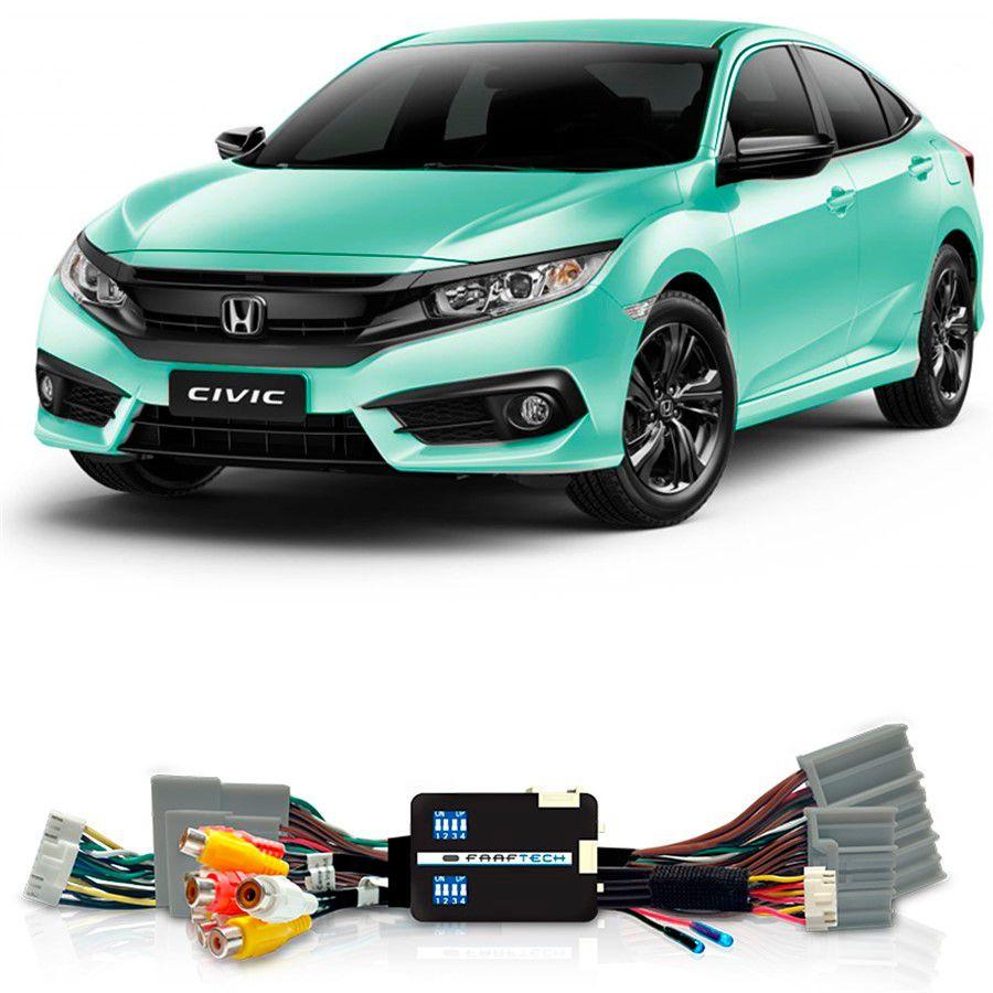 Desbloqueio De Multimidia Honda Civic 2018 Sem Entrada HDMI FT VF HND4