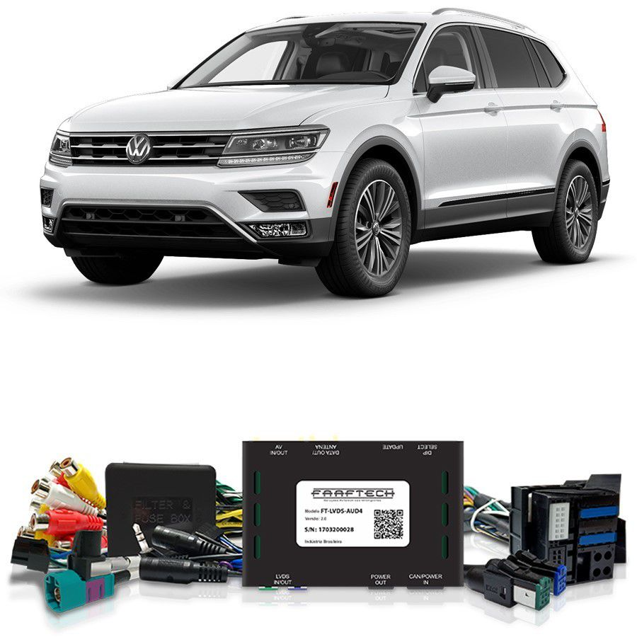 Desbloqueio De Multimídia VW Tiguan 2018 FT LVDS AUD4