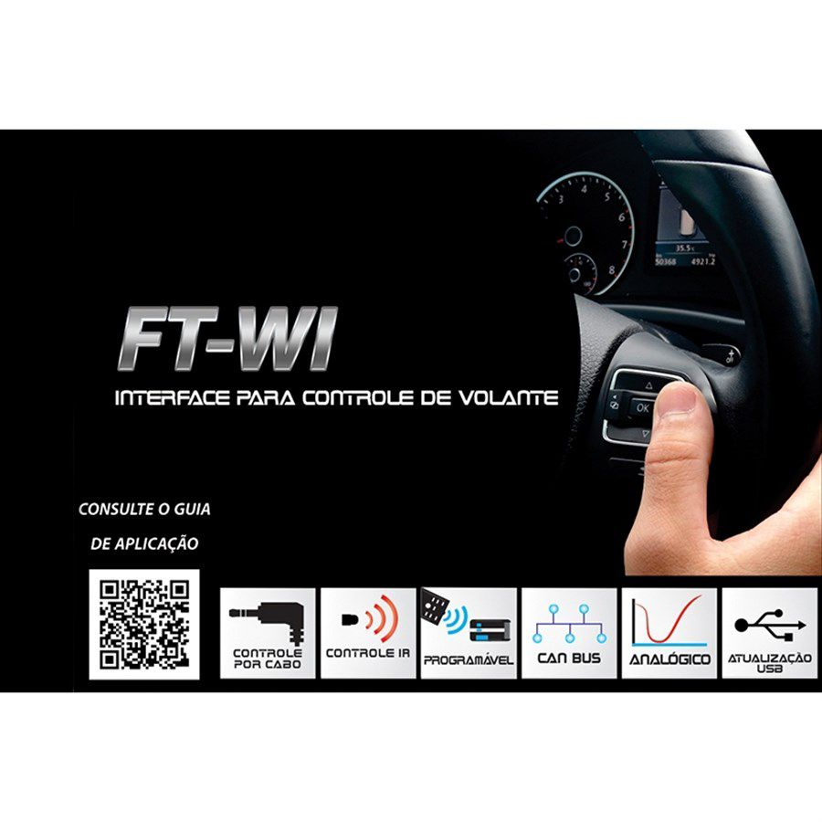 Interface De Volante FT WI VW Crossfox 2007 a 2016