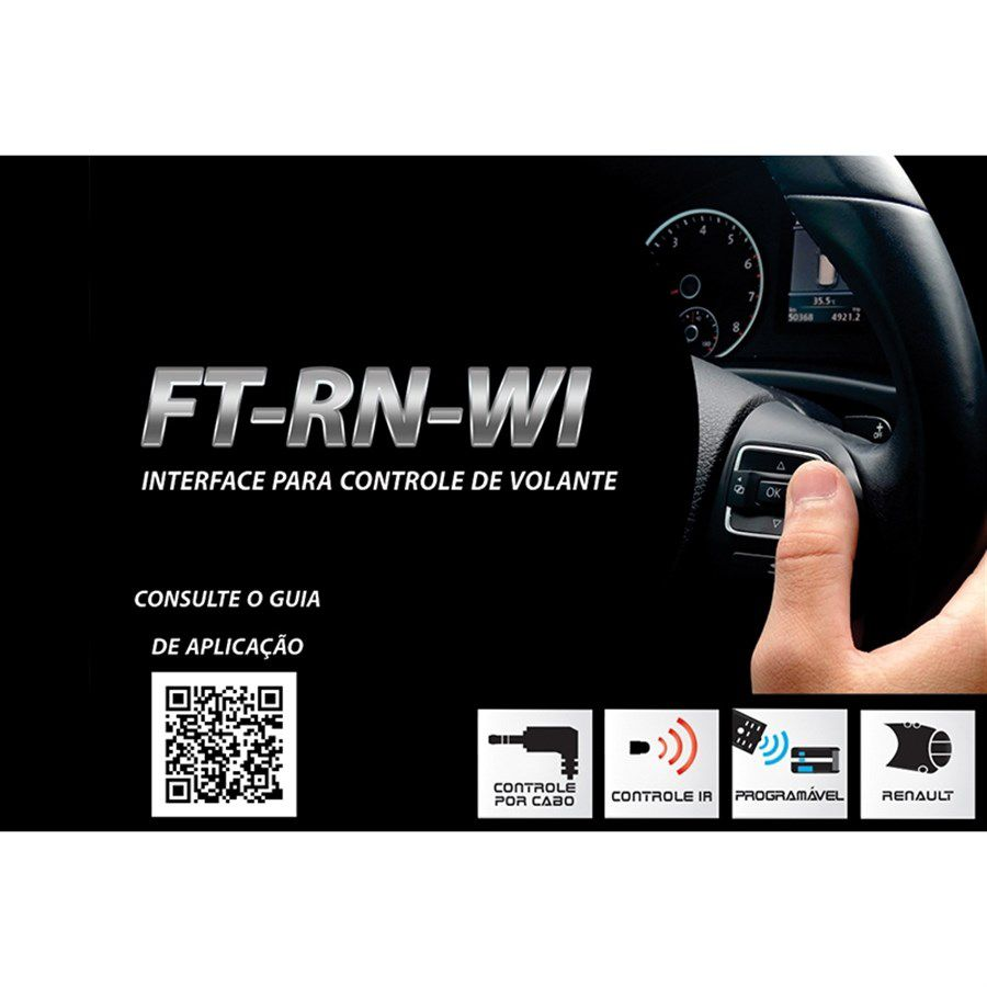 Interface de Volante Plug and Play FT SW RN Renault Duster 2012 a 2016