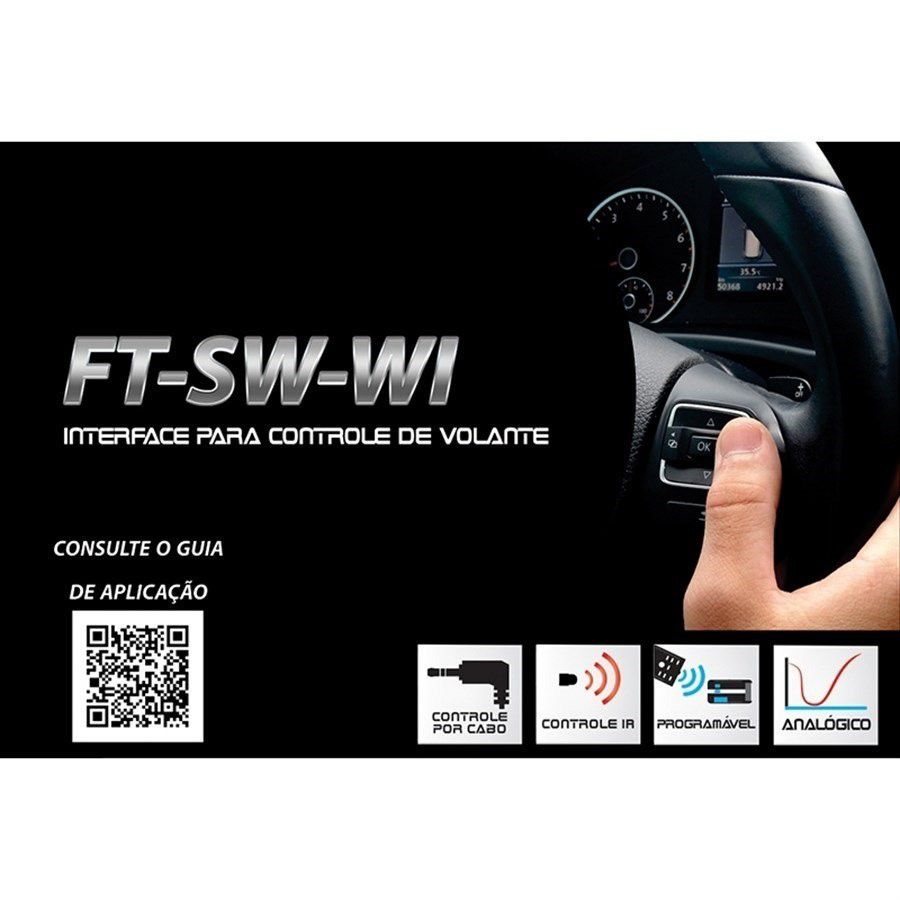 Interface de Volante Plug and Play VW Crossfox 2014 a 2017 FT SW VW