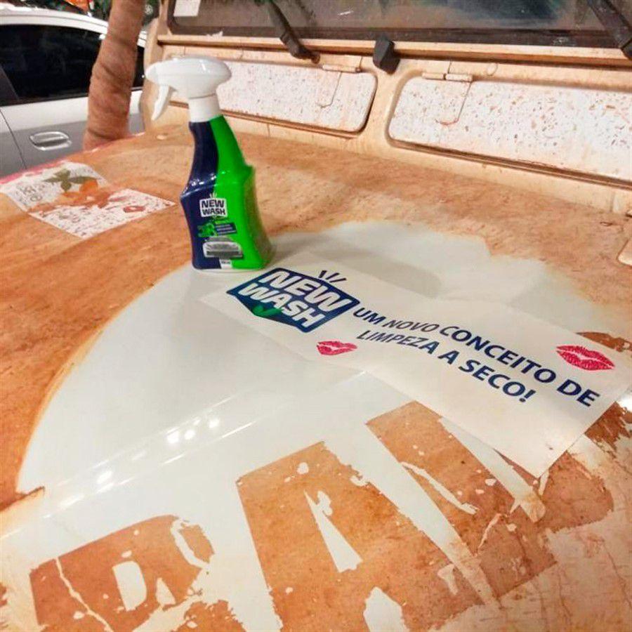 Lava a Seco Automotivo New Wash 500ml até 8 Lavagens
