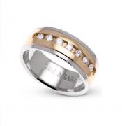 Aliança em Ouro 18k com  7 Diamantes