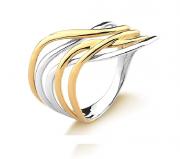 Anel 5 fios em Ouro 18K com Detalhe em Ródio