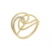 Anel com Diamantes Ouro 18k