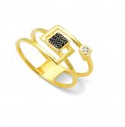 Anel em Ouro 18k com Espinélio e Diamantes