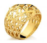 Anel Geométrico em Ouro 18k