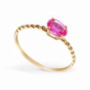 Anel Pedra Rubi Ouro 18k