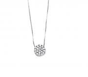 Colar Chuveirinho 19 diamantes Ouro branco 18k