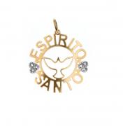 Pingente Espírito Santo em Ouro 18k