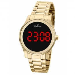Relógio Champion Feminino Dourado Digital - CH48046H