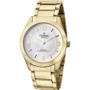 Relógio Champion Feminino Social Dourado