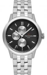 Relógio Technos Masculino Prata - Grand Tech - 6P27DS/1C