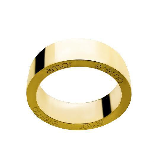 Aliança Amor Eterno em Ouro 18k