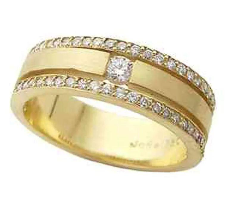 Aliança em Ouro 18k com Diamantes