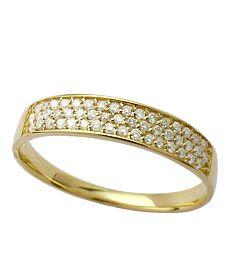 Anel Aparador Com Diamantes 18K