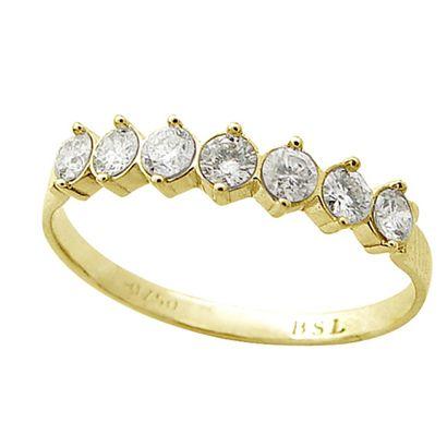 Anel Aparador em Ouro 18k com Diamantes