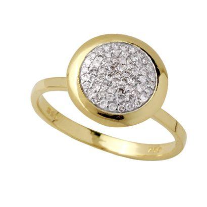 Anel Chuveiro em Ouro 18K com Diamantes