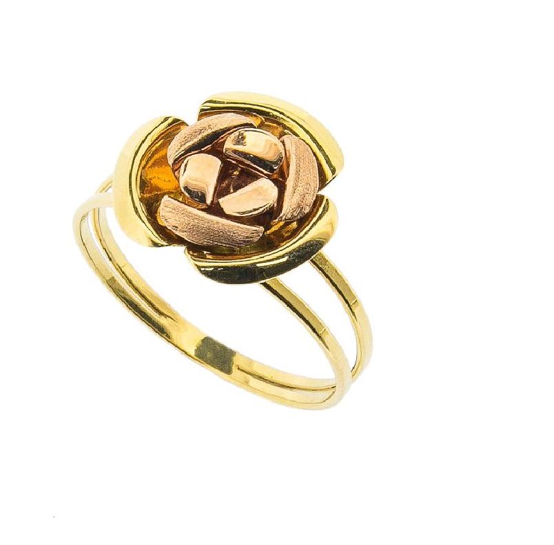 Anel Flor em Ouro 18k