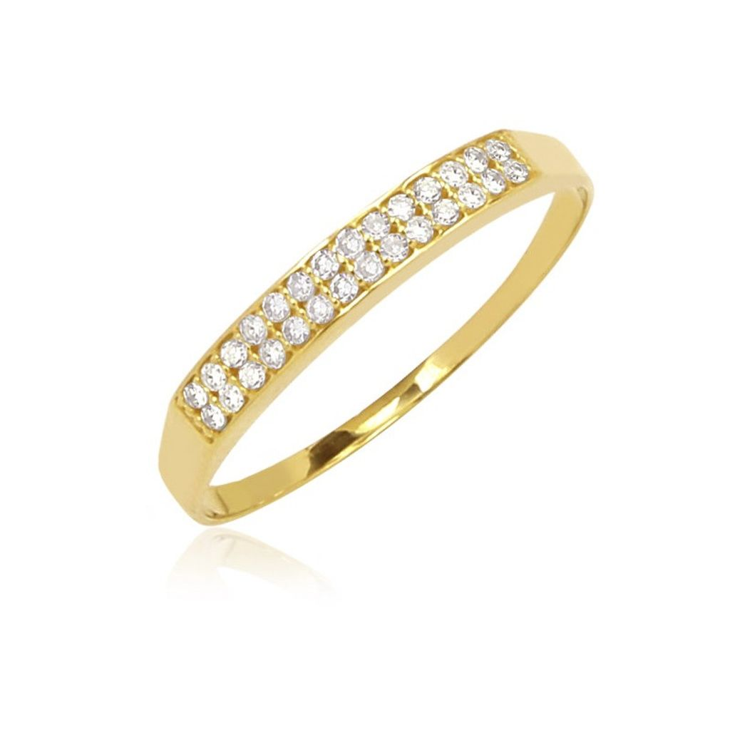 Anel Pavê Ouro 18K com Diamantes