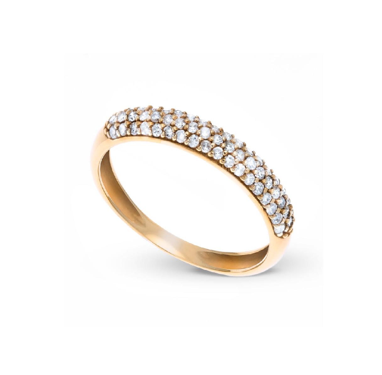 Anel Pavê em Ouro 18k Com 55 Diamantes