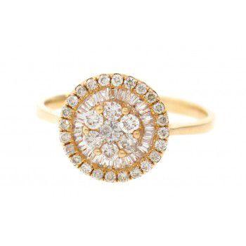 Anel Pizza em Ouro 18k com Diamantes