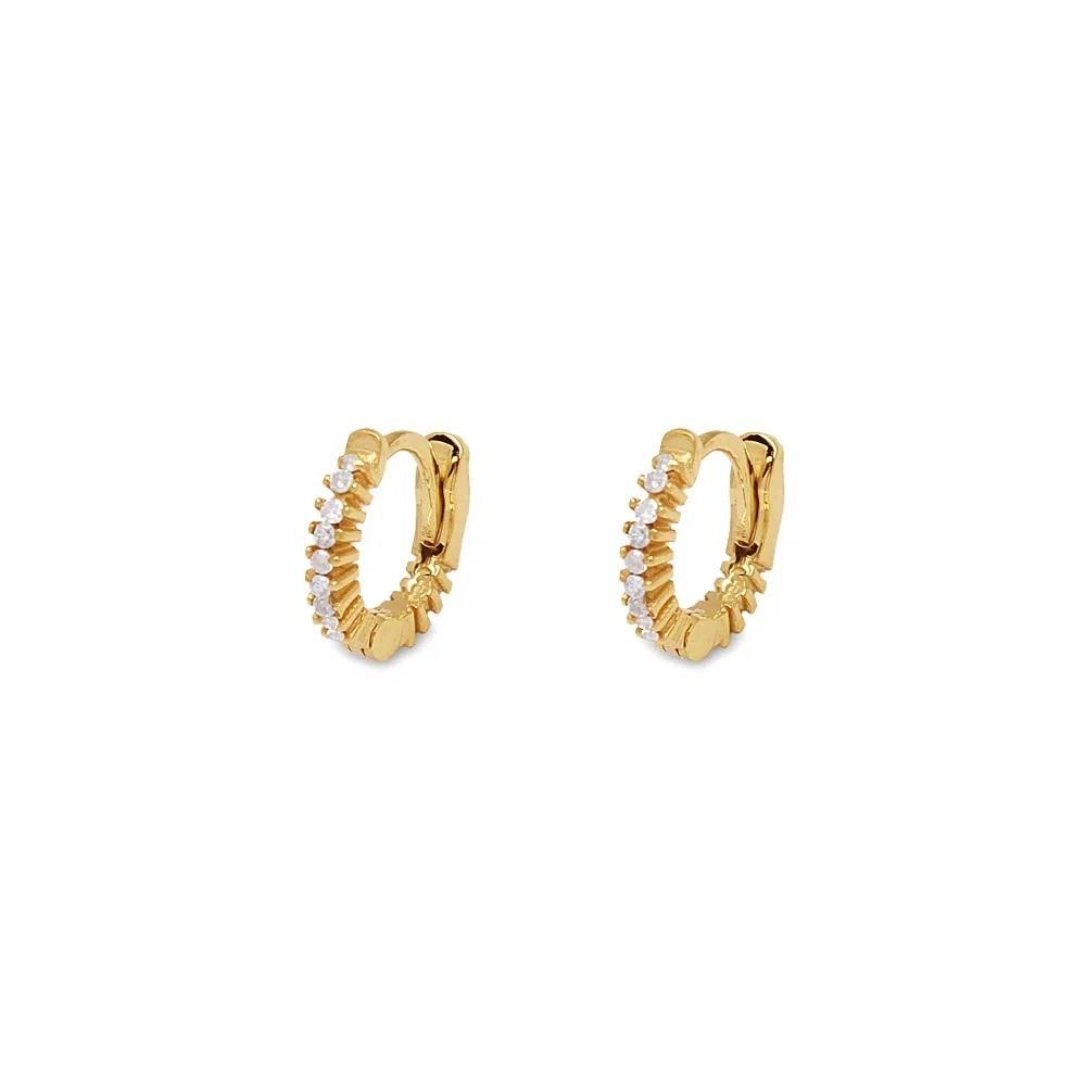 Brinco Argola com Diamantes Ouro 18k