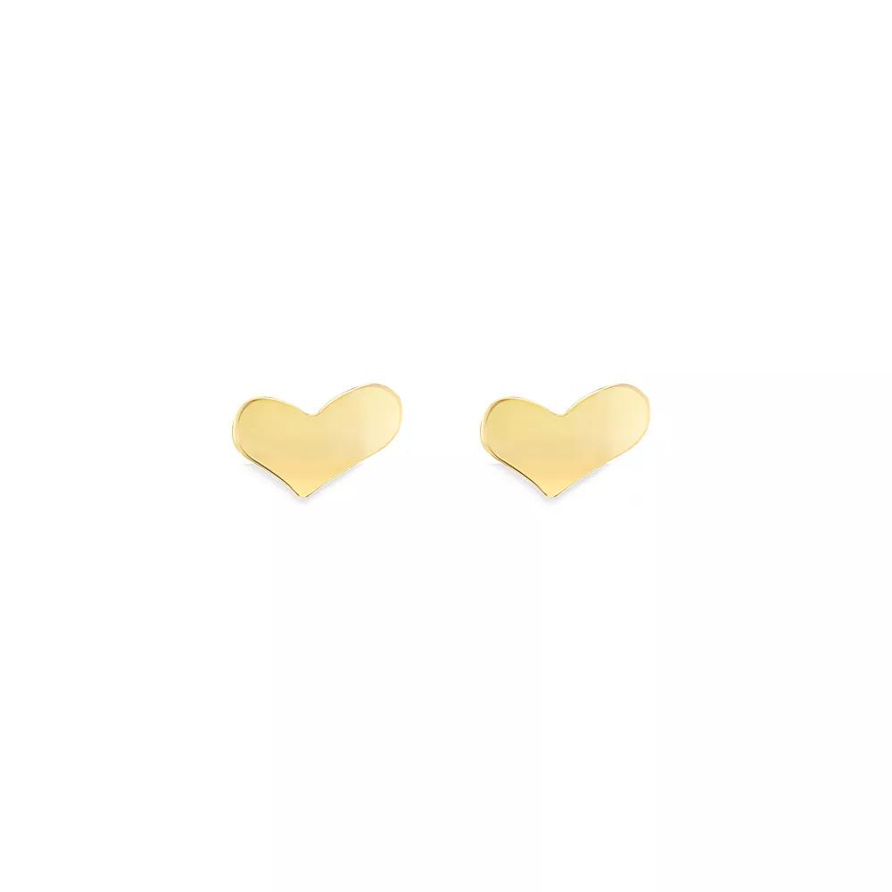 Brinco Coração em Ouro 18k