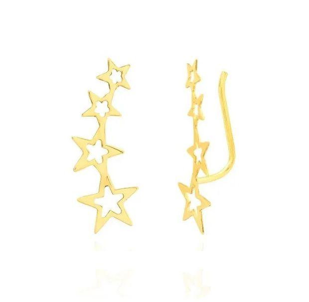 Brinco Ear Cuff Estrela em Ouro 18k