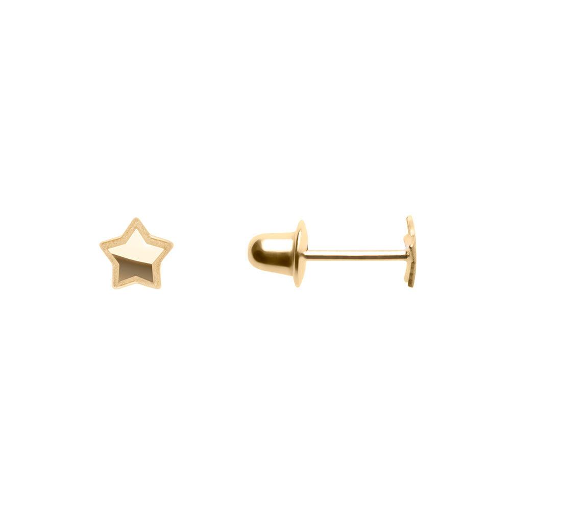 Brinco Estrela Ouro 18k