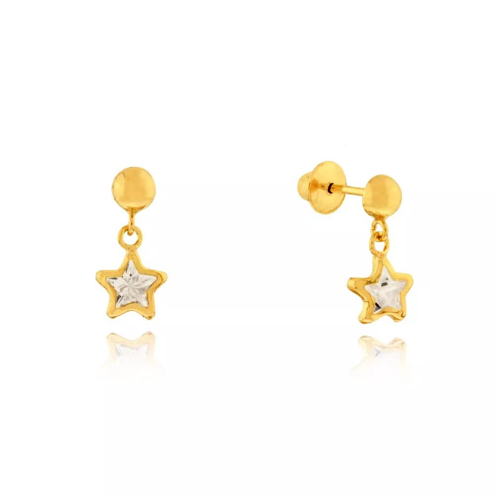 Brinco Estrela em Ouro 18k