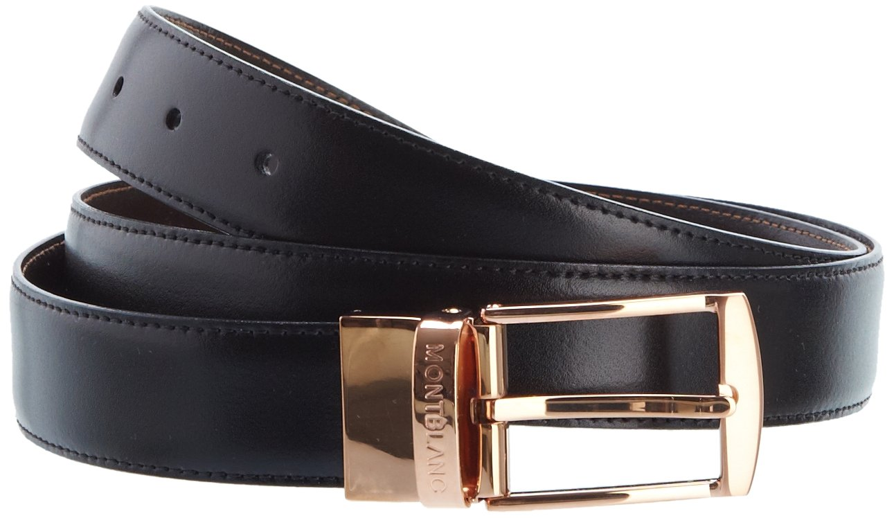 Cinto Montblanc Masculino Couro - Classic - 105122