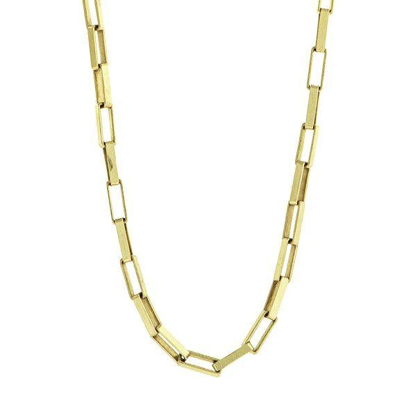 Corrente Cartier Retangular em Ouro 18k com 60cm