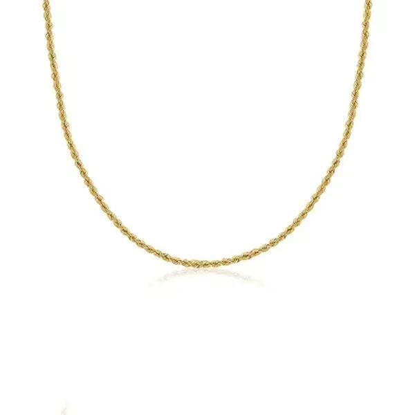 Corrente Corda com 40cm em Ouro 18k