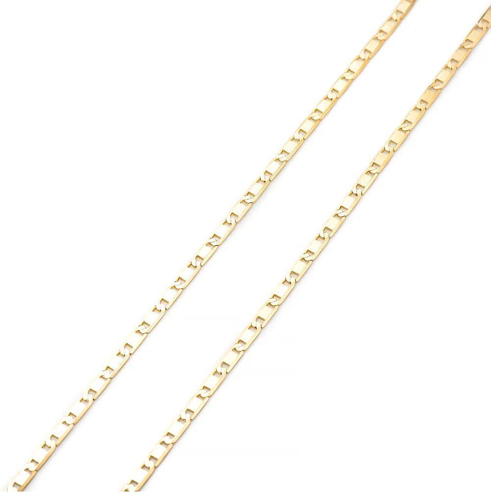 Corrente Piastrine em Ouro 18k com 60cm