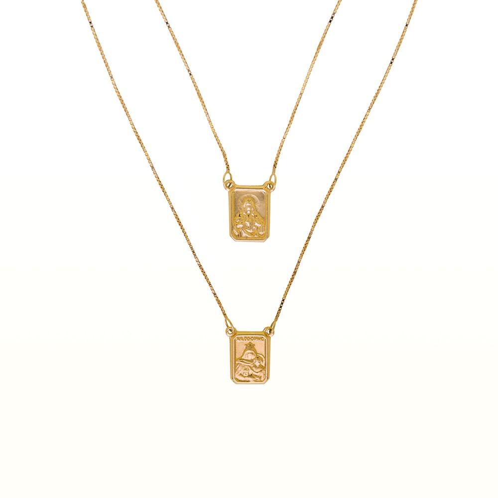 Escapulário Cartier em Ouro 18k com 60cm