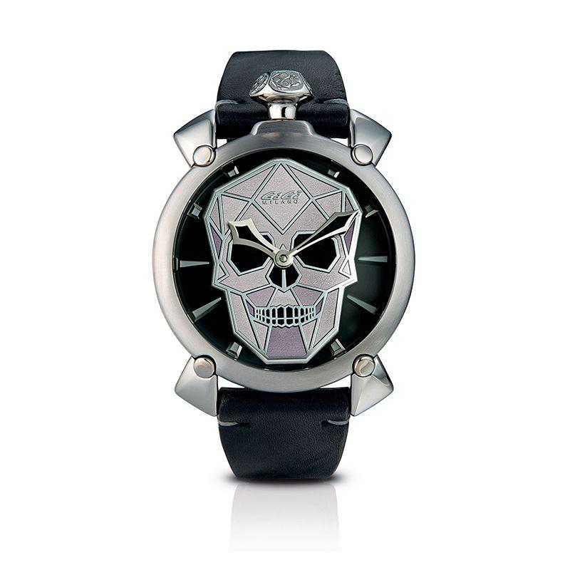 Relógio Gagá  Milano Masculino Preto-  Bionic Skull 48mm - 5060
